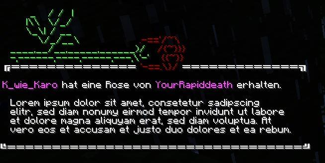 Rosenausgabe im Chat (öffentlich)
